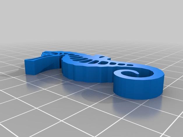 海马吊坠 3D模型  图2