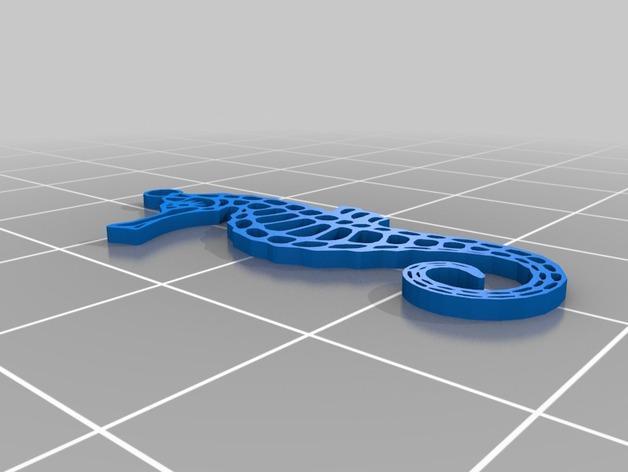 海马吊坠 3D模型  图3
