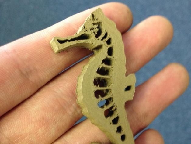 海马吊坠 3D模型  图4