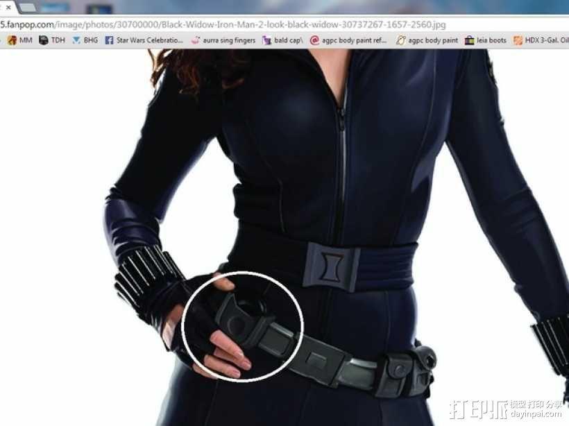 黑寡妇 腰带  3D模型  图1