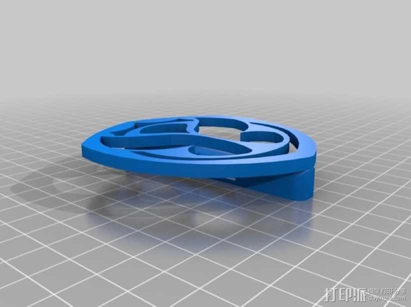 Tomorrowland皮带扣 3D模型  图2