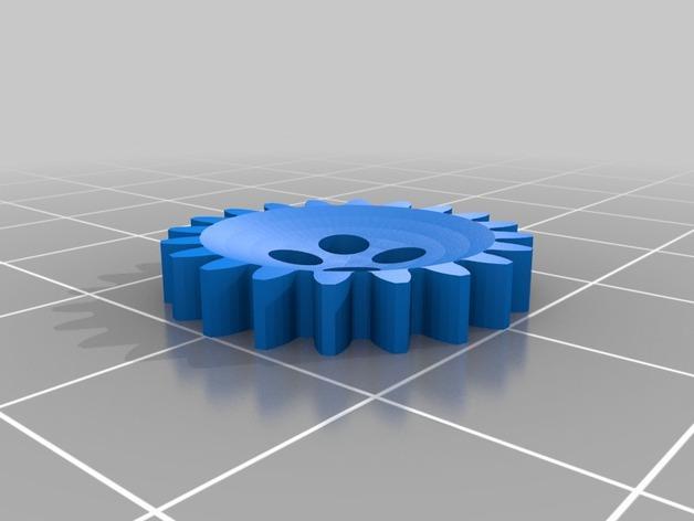 齿轮纽扣 3D模型  图2