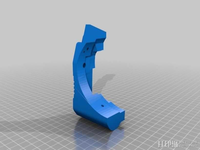 蜻蜓抱握器 侧片模型  3D模型  图1