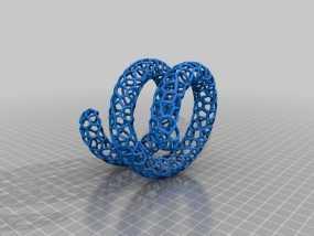 泰森多边形手镯 3D模型