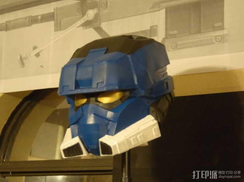 EOD机器人头盔 3D模型  图1