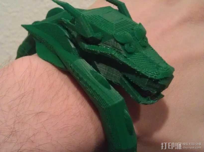 龙头手镯 3D模型  图1