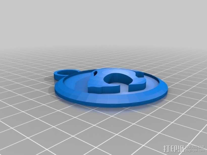 霹雳猫 吊坠 3D模型  图1