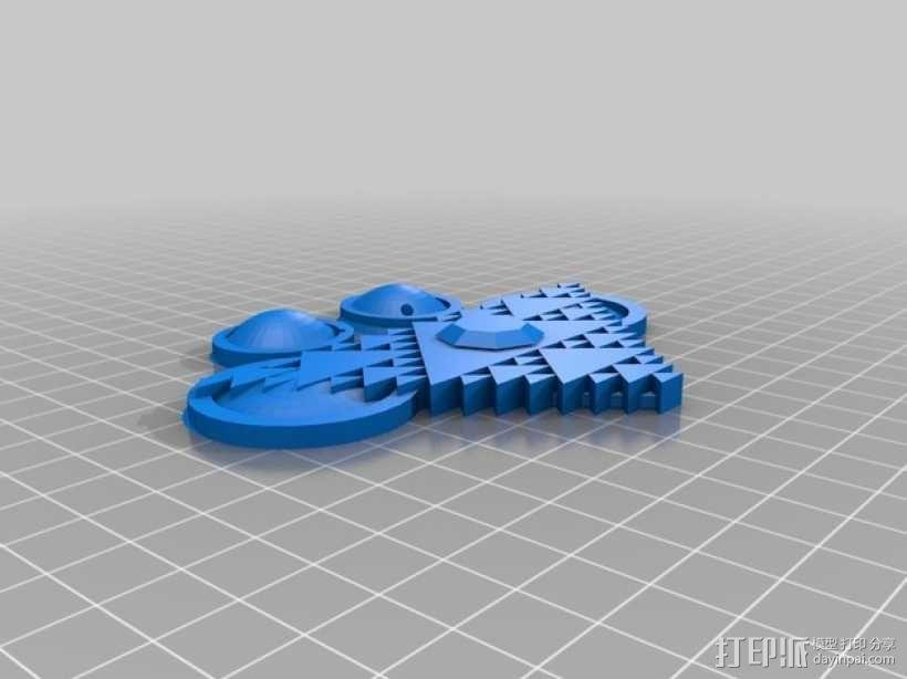 Sierpenski倒三角项链 3D模型  图2