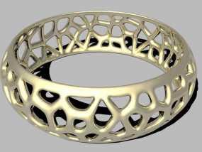 参数化镂空手镯 3D模型