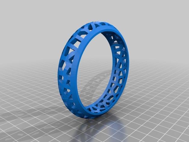 参数化镂空手镯 3D模型  图2