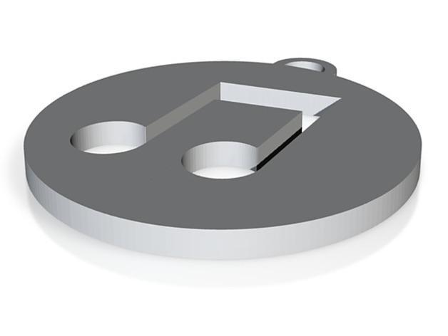 iTunes图标 钥匙坠 3D模型  图1