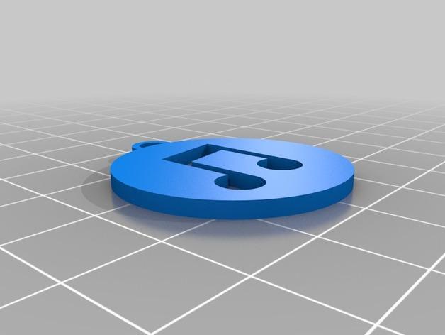 iTunes图标 钥匙坠 3D模型  图2