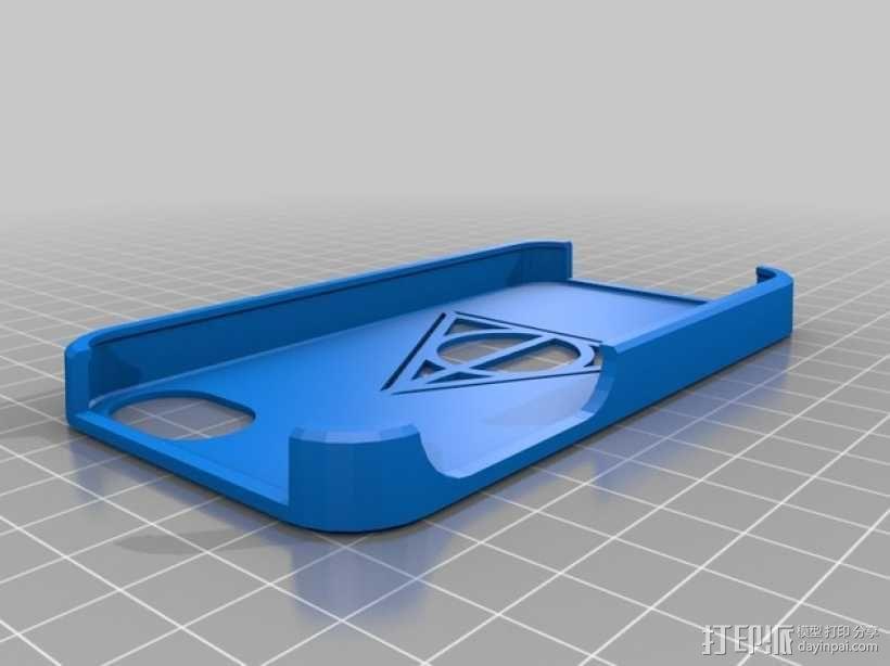 死亡圣器图案 手机套 3D模型  图1