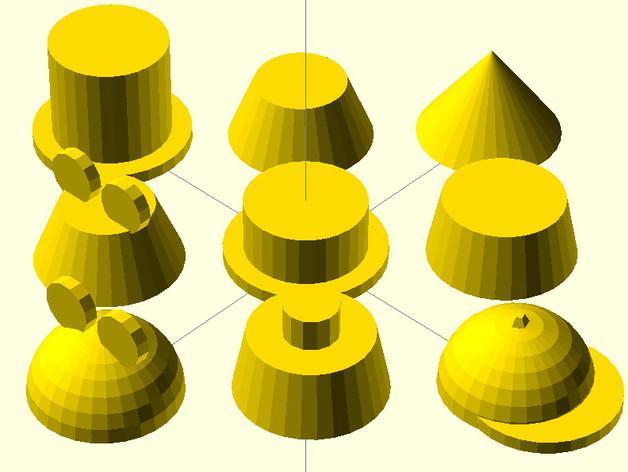 摩埃石像 帽子 3D模型  图2