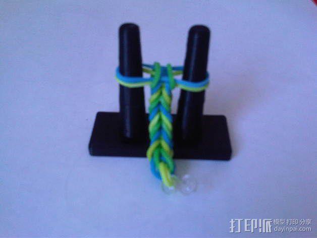 橡皮筋手链编织器 3D模型  图1