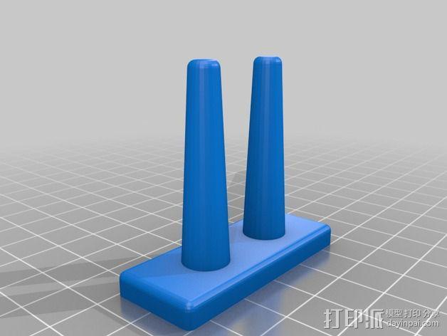 橡皮筋手链编织器 3D模型  图2