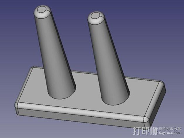 橡皮筋手链编织器 3D模型  图3