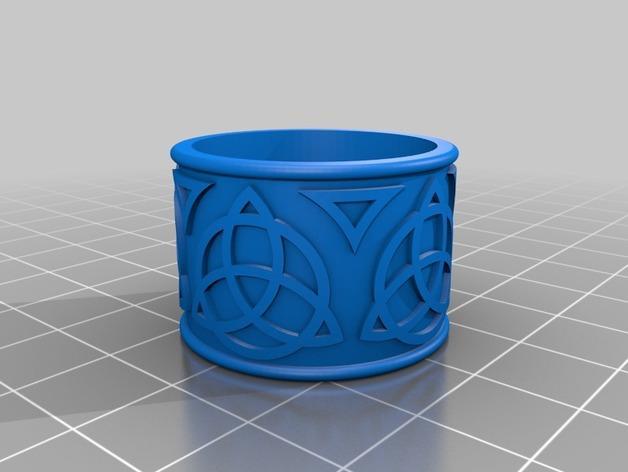 凯尔特风格 戒指 3D模型  图2