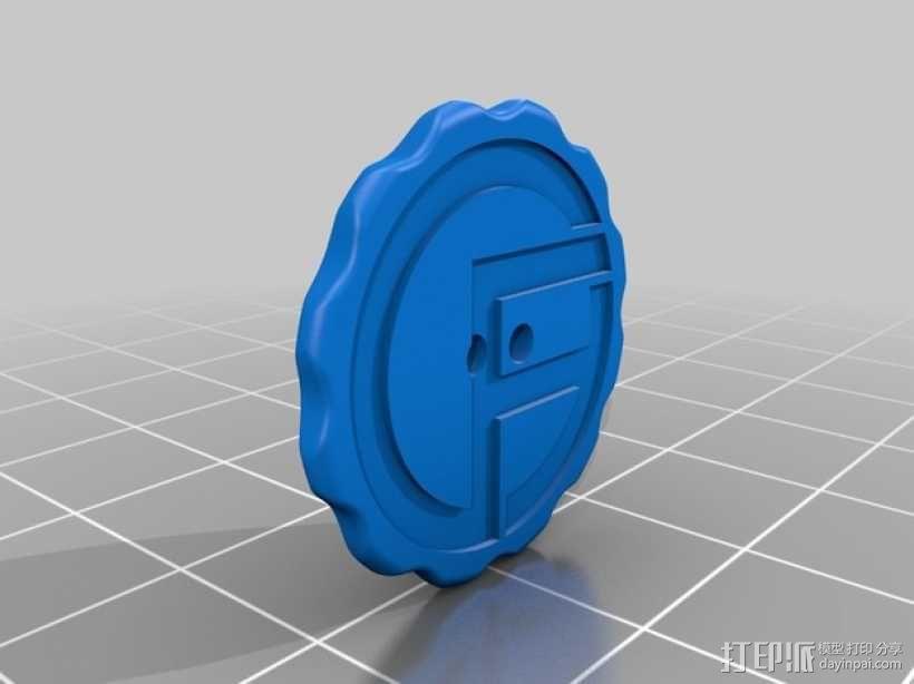 圆齿边 纽扣 3D模型  图2