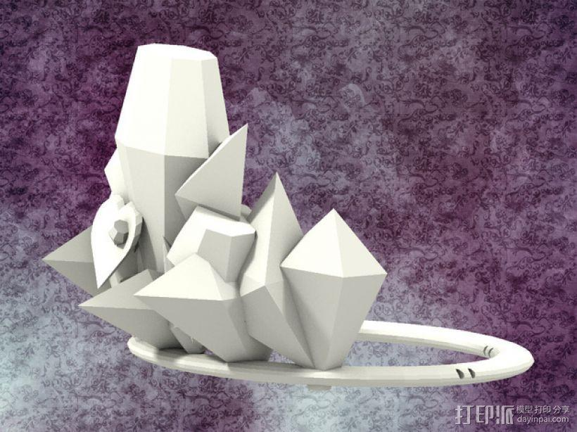 冰雹 王冠 3D模型  图1