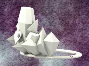 冰雹 王冠 3D模型