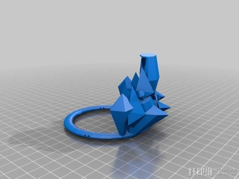 冰雹 王冠 3D模型  图2