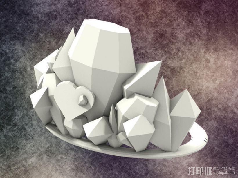冰雹 王冠 3D模型  图3