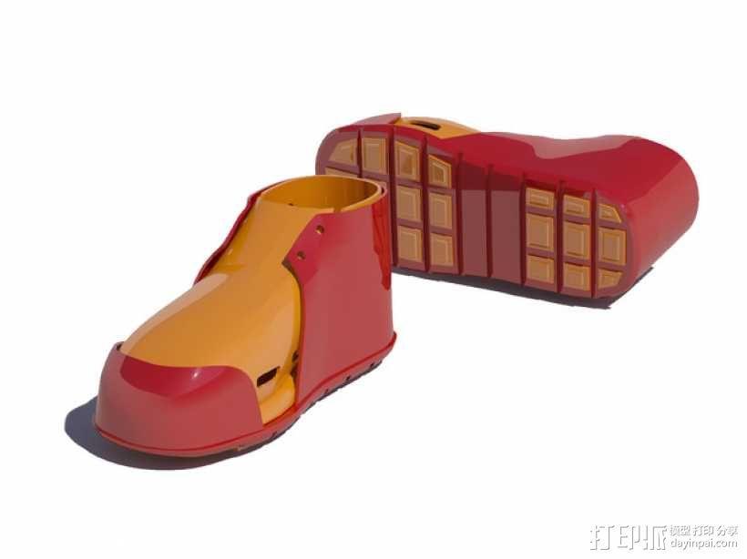 贝壳头鞋子 3D模型  图1