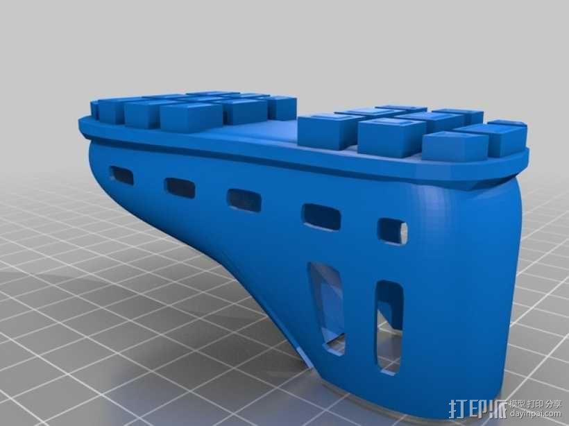 贝壳头鞋子 3D模型  图2