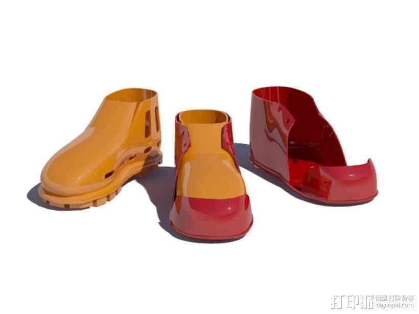 贝壳头鞋子 3D模型  图5