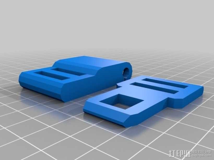 Bowers皮带扣 3D模型  图2