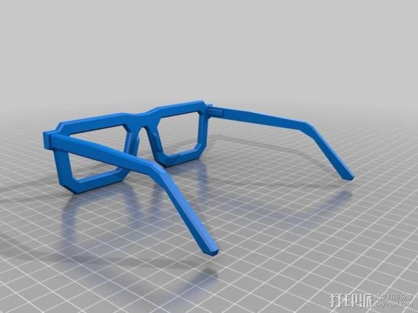 书呆子眼镜 3D模型  图2