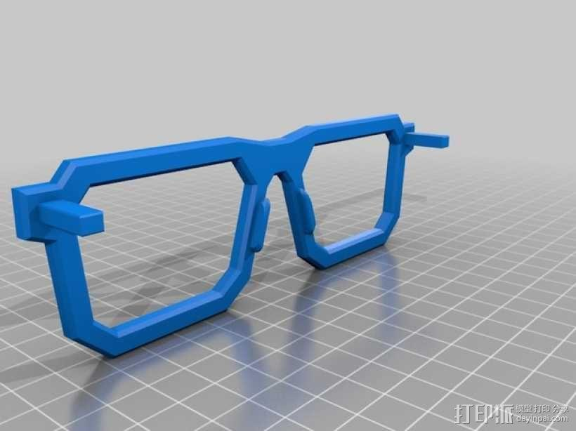 书呆子眼镜 3D模型  图4