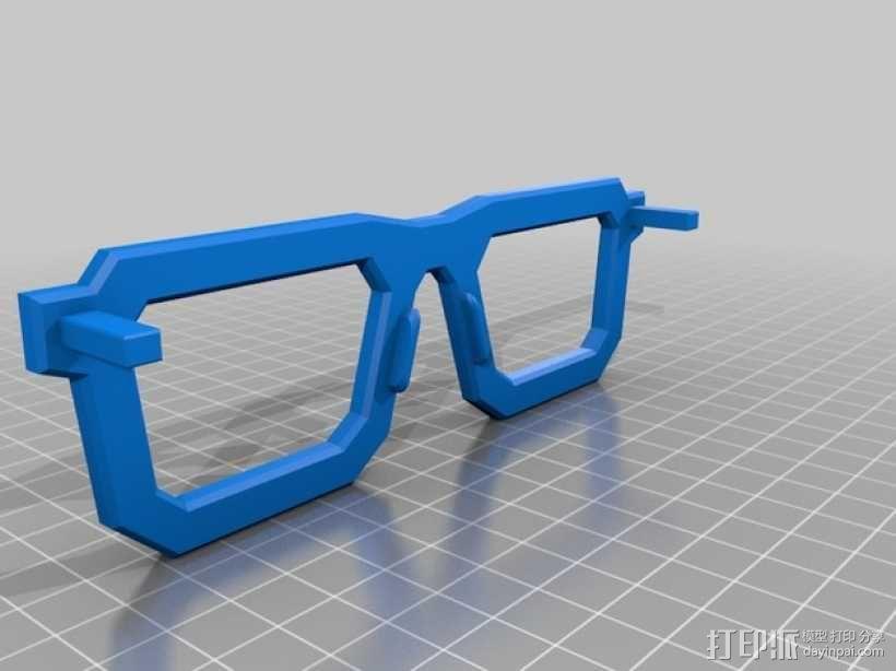 书呆子眼镜 3D模型  图5