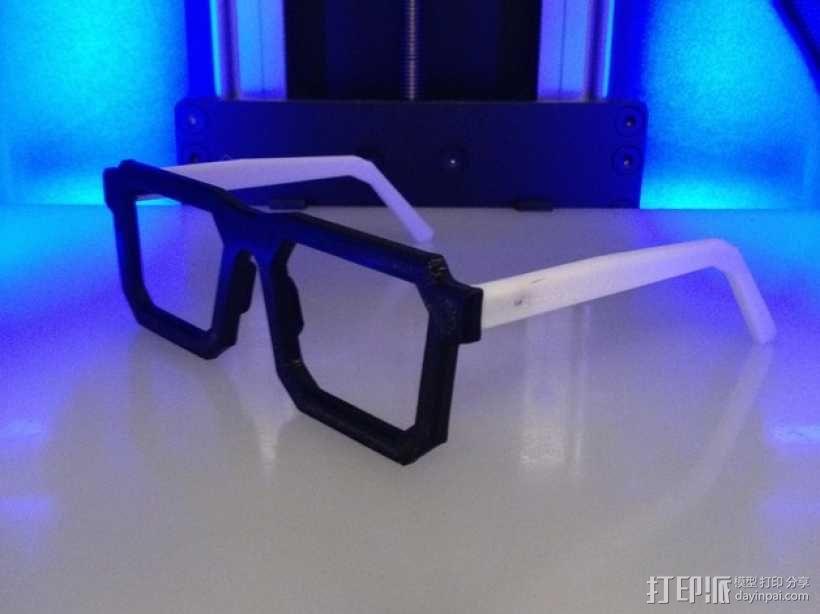 书呆子眼镜 3D模型  图6