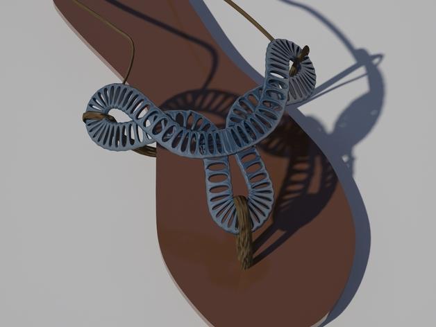 夹趾凉鞋 3D模型  图3