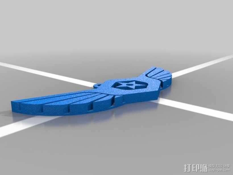 军舰鹰 钥匙坠 3D模型  图2