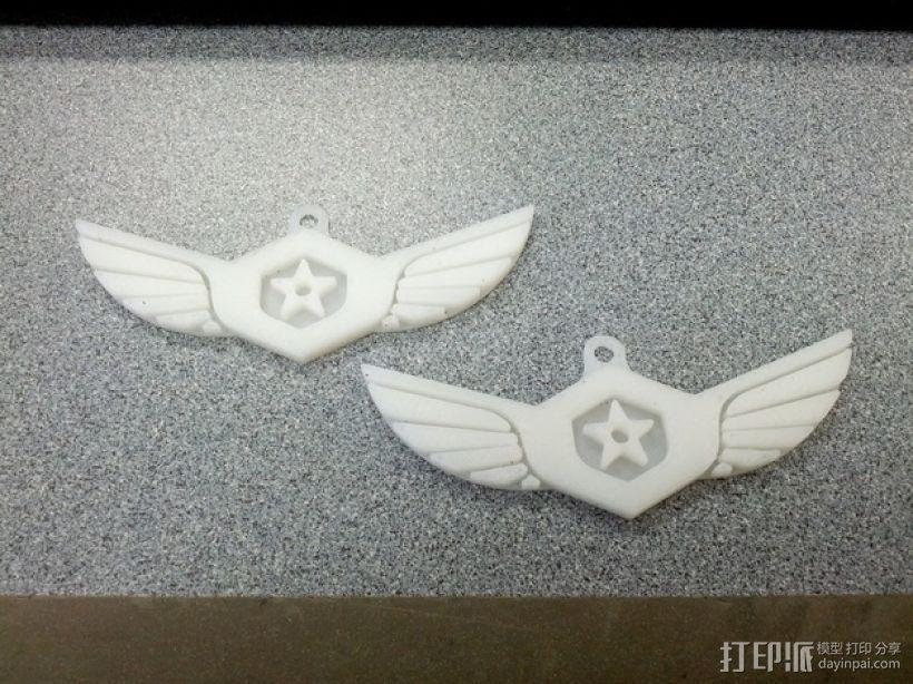 军舰鹰 钥匙坠 3D模型  图1