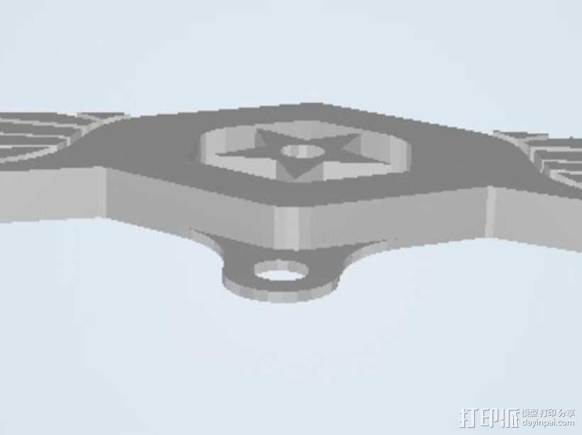 军舰鹰 钥匙坠 3D模型  图3