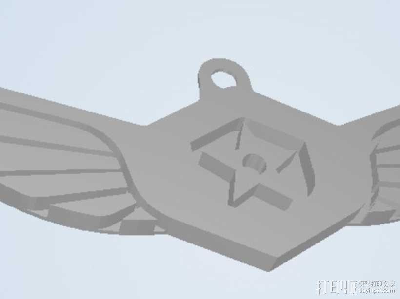 军舰鹰 钥匙坠 3D模型  图4