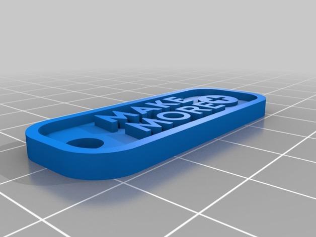 Make More钥匙坠 3D模型  图4