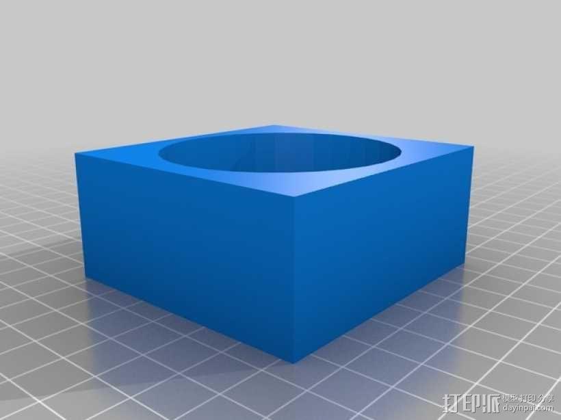 长方体手镯 3D模型  图1