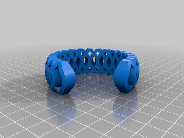 镂空编织手镯 3D模型  图2