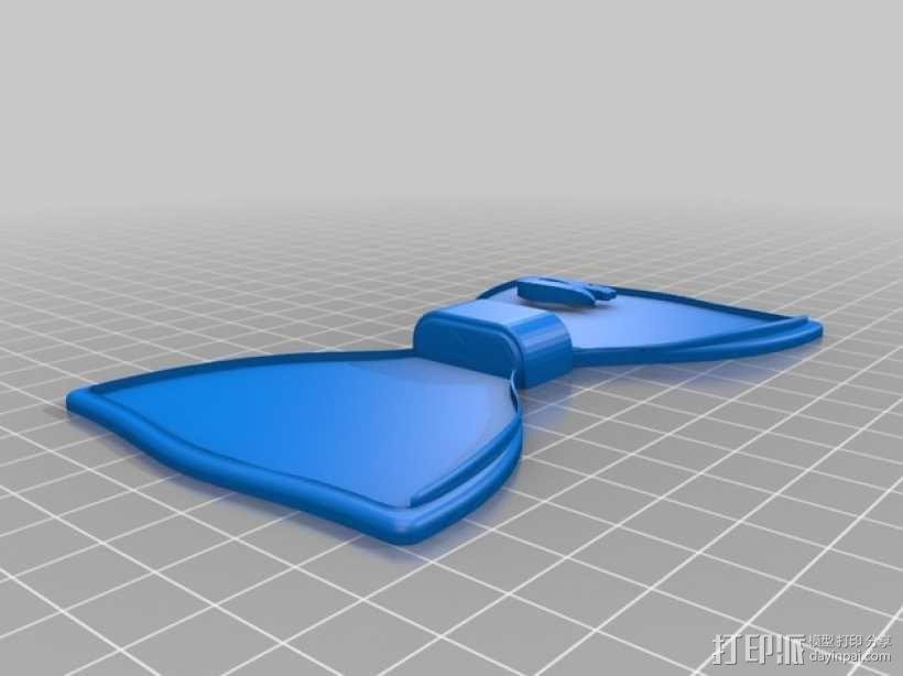 蝶形领结 3D模型  图4