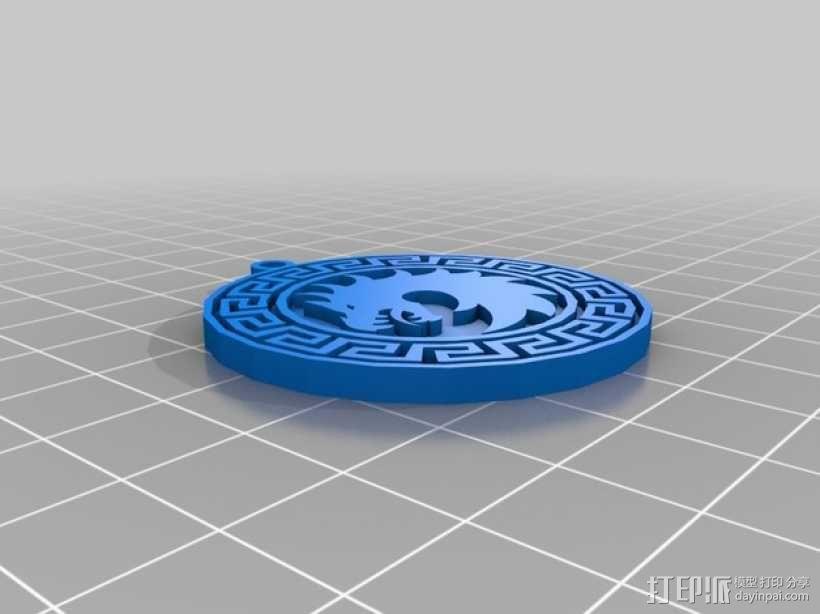 龙形 耳坠 3D模型  图2
