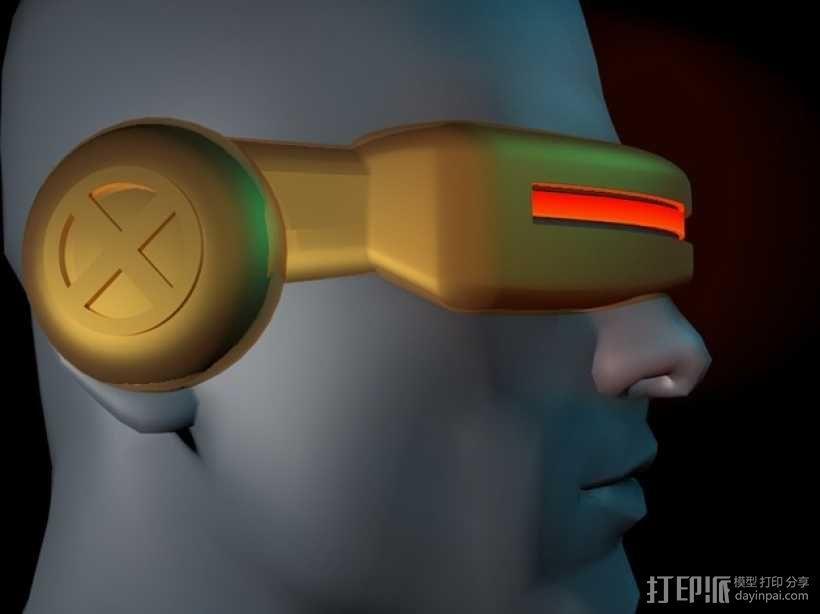 镭射眼镜  3D模型  图1