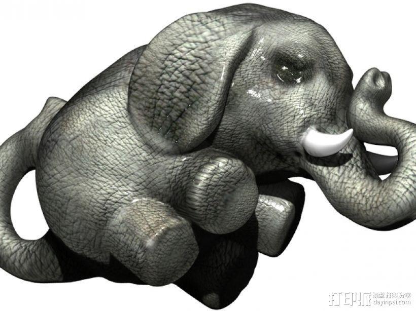 幸运小象  3D模型  图1