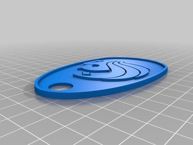 UCF中弗罗里达大学 标志 钥匙坠 3D模型  图3
