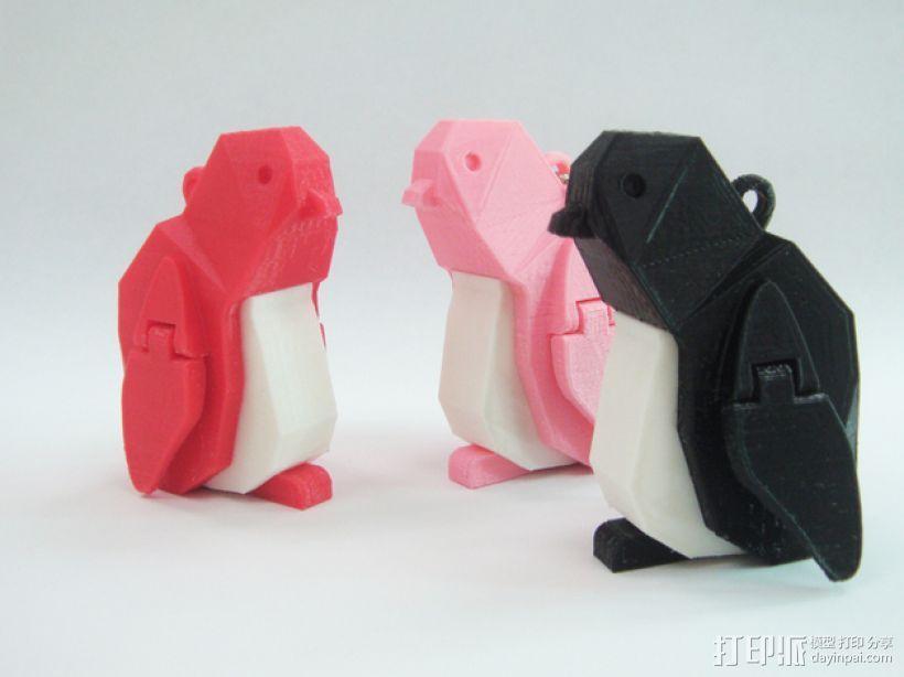 企鹅 吊坠 3D模型  图1