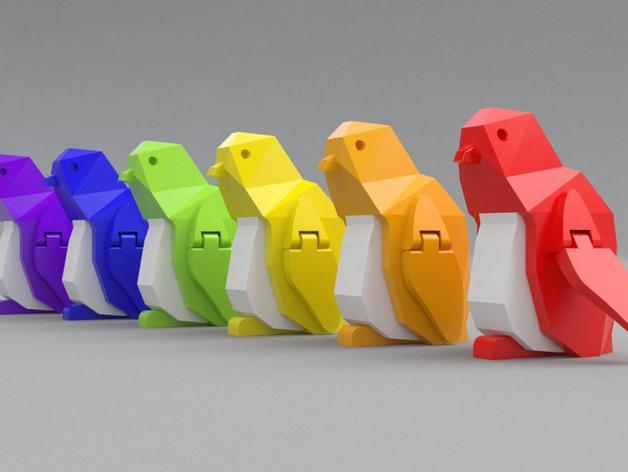 企鹅 吊坠 3D模型  图6